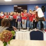 Harcerze, uczestnicy warsztatów wokalnych